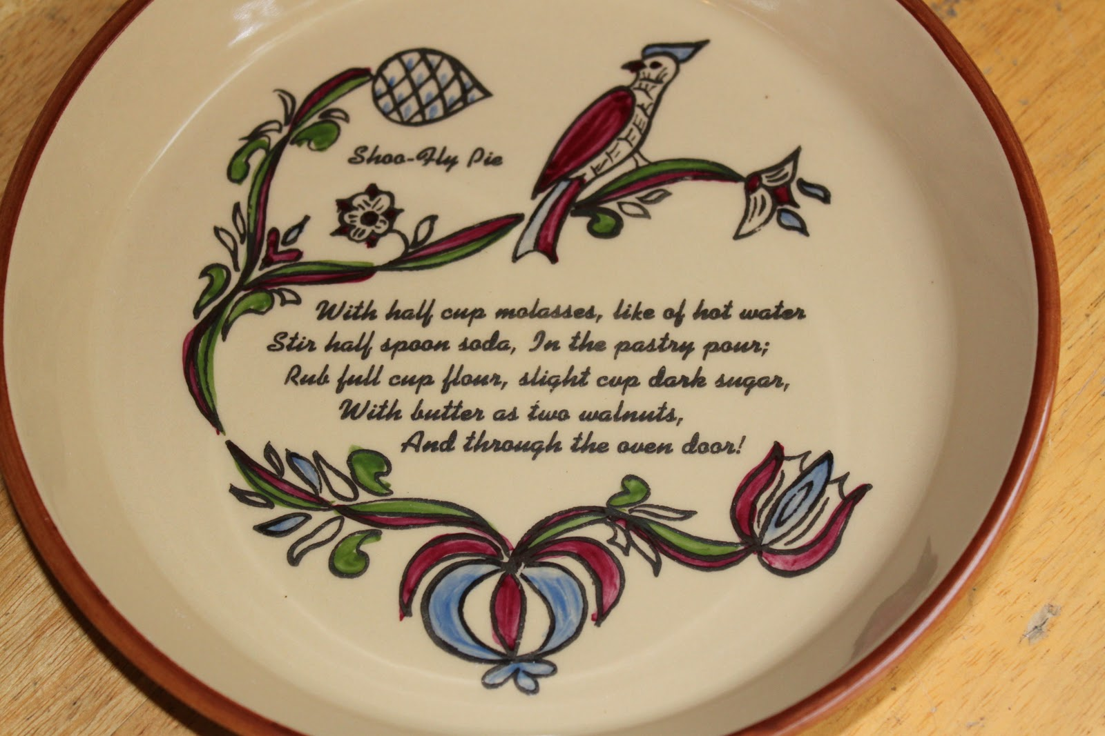 Shoo Fly Pie Plate u2013 total kitch but would be fun to own! & shoo fly pie | chestercountyramblings