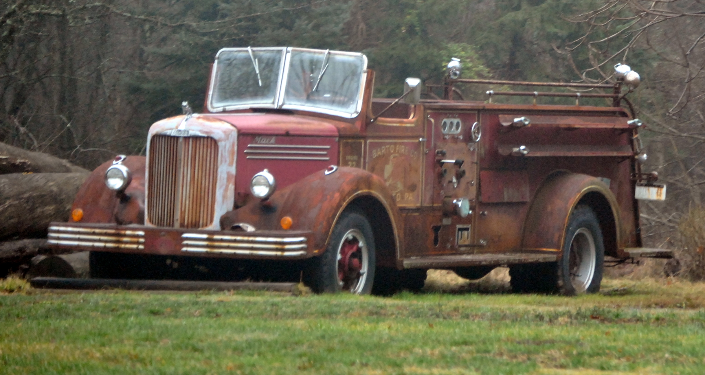 sad old fire truck | chestercountyramblings