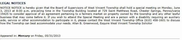 wv market notice