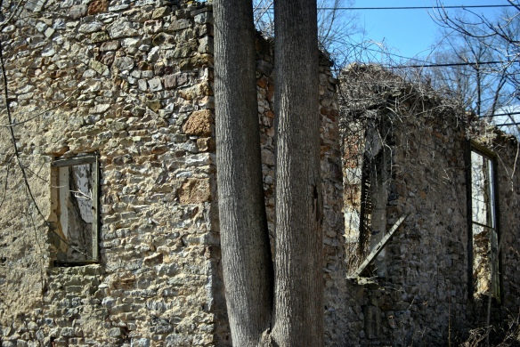 The ruins of Ebenezer A.M.E. March 2013