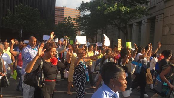 Protests in Philadelphia yesterday July 7th courtesy of NBC 10 Philadelphia video still