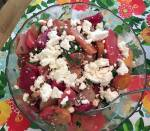 The salad I made Sunday with what I got from North Star and Yellow Springs!