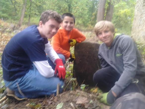 Willistown Troop 78 scouts discovered Hiram today. ~Al Terrell photo